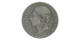 2 Pesetas Alphonse XII - Espagne  Argent