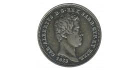 25 Centimes Charles Albert - Italie Sardaigne Argent