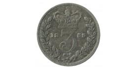 3 Pence Georges IV - Grande Bretagne Argent