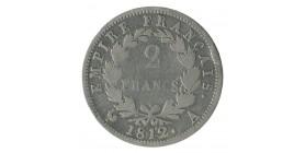 2 Francs Napoléon Ier Tête Laurée Revers Empire