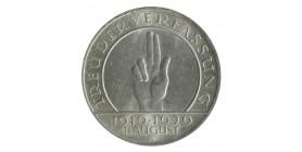 3 Reichsmark - Allemagne République de Weimar Hindenbourg Argent