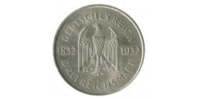 """3 Reichsmark """"Goethe"""" - Allemagne République de Weimar Argent"""