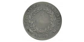 5 Francs Bonaparte 1er Consul