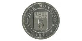 5 Centimes Alliage Monétaire Société Française de Métallurgie du Nickel - Essai