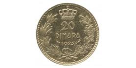 20 Dinars Alexandre Ier - Yougoslavie