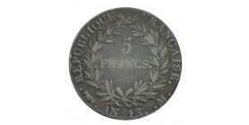 5 Francs Napoléon Ier Tête Nue Calendrier Révolutionnaire