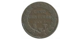 5 Centimes Dupré Directoire