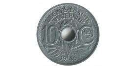10 Centimes Gouvernement Provisoire Petit Module