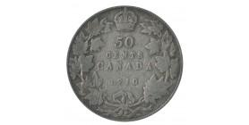 50 Cents Edouard VII - Canada Argent