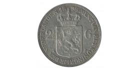 2 1/2 Florins Wilhemine - Pays Bas Argent