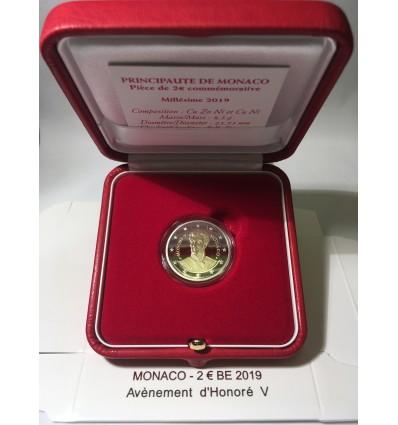 2 Euros Commémoratives Monaco 2019