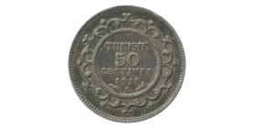 50 Centimes - Tunisie Argent