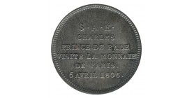 Module de 2 Francs - Charles de Bade Visite de la Monnaie de Paris