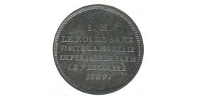 Module de 2 Francs - Roi de Saxe Visite de la Monnaie de Paris