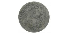 1 Franc Napoléon Empereur Calendrier Grégorien