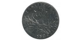 5 Francs Semeuse Frappe Médaille