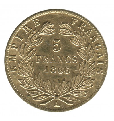 5 Francs Napoléon III Tête Laurée
