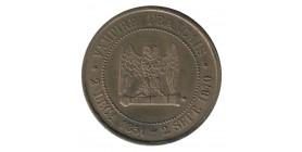 """Médaille Satirique Module de 5 Centimes Napoléon III """"Vampire Français"""""""