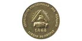 1/2 Franc Associations Fraternelles des Ménages Laiton