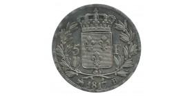 5 Francs Louis XVIII Buste Nu