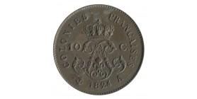 10 Centimes Louis XVIII - Colonies Françaises Essai