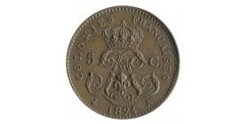 5 Centimes Louis XVIII - Colonies Françaises Essai