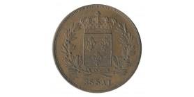 5 Centimes Louis XVIII Essai Cuivre Rouge