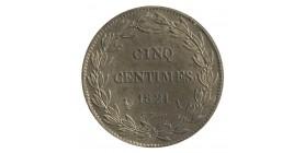 5 Centimes Louis XVIII Essai Bronze