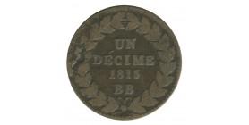 1 Décime Louis XVIII Sans Point avec Accent
