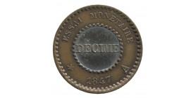 Décime Bi-Métallique Louis-Philippe Ier Bronze et Argent