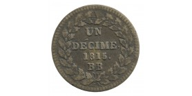 1 Décime Louis XVIII Point Après Décime et Date