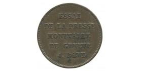 Module de 50 Centimes Louis-Philippe Ier Essai de la Presse Monétaire de Genève