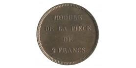 Module de 2 Francs Louis-Philippe Ier Epreuve des Presses Thonnelier