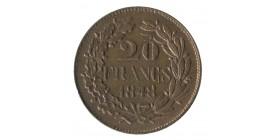 20 Francs Concours de Garyrard Piéfort