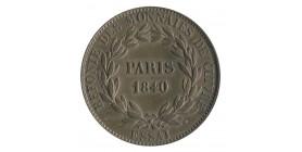 Module de 10 Centimes Louis-Philippe Ier Refonte des Monnaies de Cuivre Essai