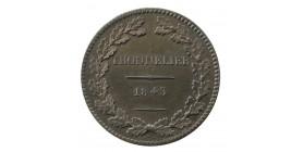 Module de 1 Décime Louis-Philippe Ier Presse Monétaire Française Thonnelier