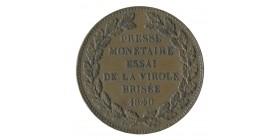 Module de 5 Francs Louis-Philippe Ier Presse Monétaire Essai de la Virole Brisée