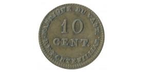 10 Cent Fabrique du Vast (Manche) P.F.FONTENILLIAT Cuivre