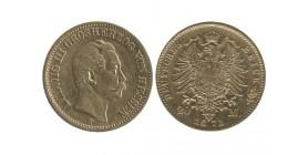 20 Marks Louis III allemagne - hesse - darmstadt