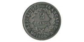 2 Francs Napoléon Ier Tête Laurée Revers République