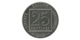 25 Centimes Patey Piéfort Tranche Lisse