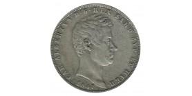 5 Lires Charles Albert - Italie Sardaigne Argent