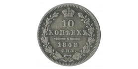 10 Kopecks Nicolas Ier - Russie Argent