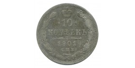 10 Kopecks Nicolas II - Russie Empire Argent