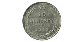 15 Kopecks Nicolas II - Russie Empire Argent