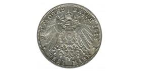 3 Marks 100e Anniversaire de la Bataille de Leipzig - Allemagne Saxe Argent