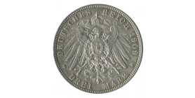 3 Marks Frederic Auguste III - Allemagne Saxe Argent