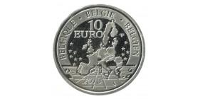 10 Euros 100e Anniversaire de Royal Museum - Belgique Argent