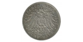 5 Marks Otto - Allemagne Bavière Argent