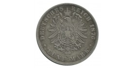 5 Marks Louis III - Allemagne Hesse Darmstadt Argent